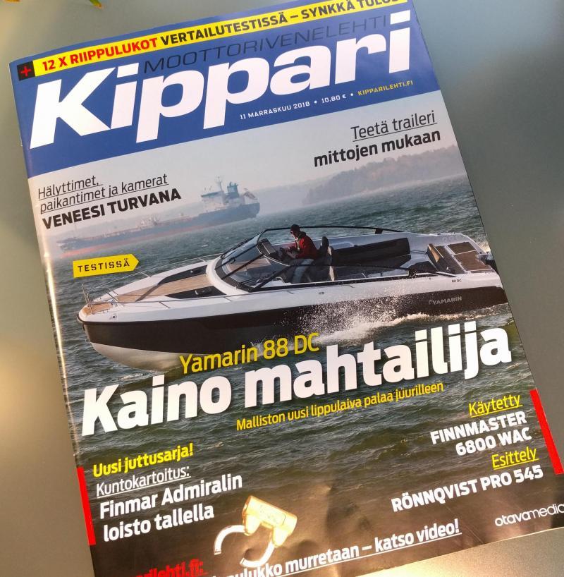 Yamarin 88 DC Kippari-lehden kannessa