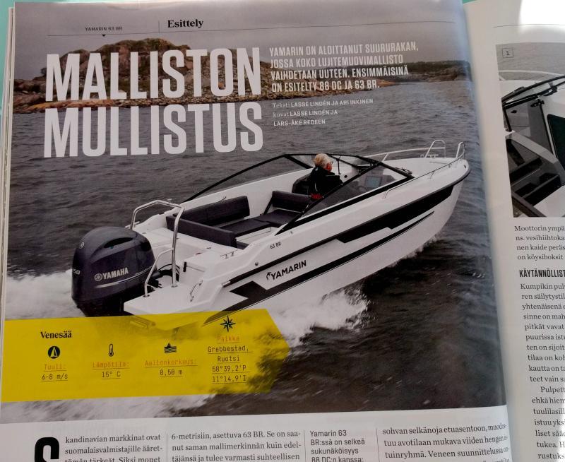 Yamarin 63 BR esittely Vene-lehdessä 2/2019