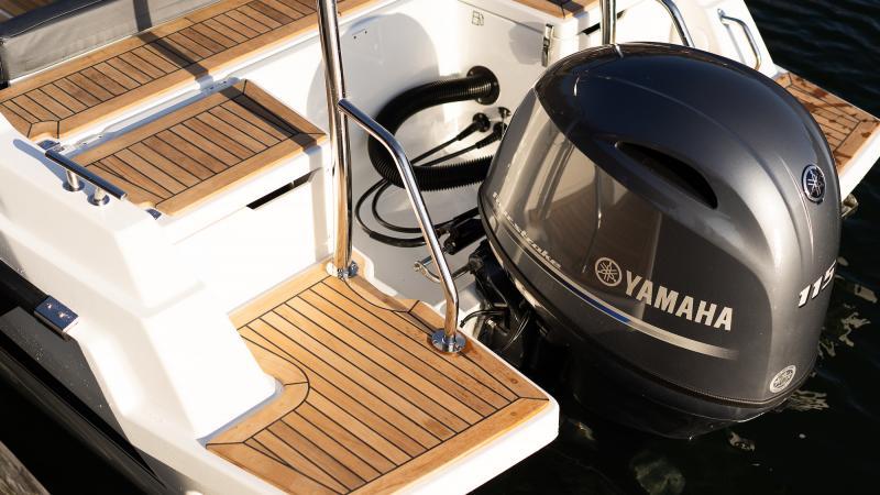 Yamarin 60 DC has safe large bathing platforms
