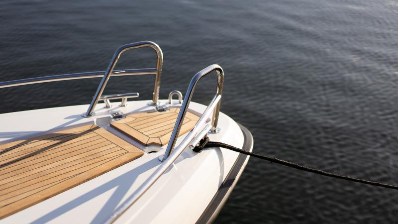 Yamarin 60 Day Cruiser has a teak deck, which is safe and comfortable