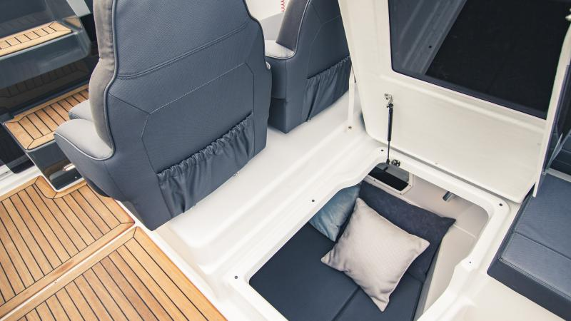 Yamarin 88 DC has two cabins with separate entrances
