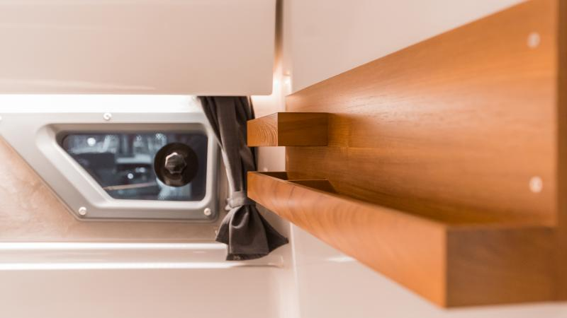 Yamarin 88 DC Premium cabin interior wooden details